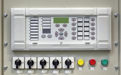 Electrical control panel with electronic devices in modern electrical substation Kuvituskuvat