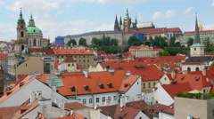 Stock Video Footage of charles bridge and castle view, prague, zoom out, timelapse, 4k