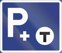 Road sign used in Sweden - Park and ride Stock Illustration