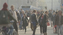 People in front of Amsterdam Centraal train station - ungraded: c-log Stock Footage