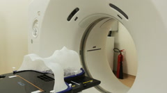 Tomography cancer treatment scanner. Zoom out. Stock Footage