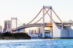 Rainbow bridge in Tokyo city at Japan Kuvituskuvat