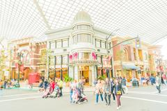 Osaka, Japan - December 1:  The theme park attractions based on the film indu Stock Photos