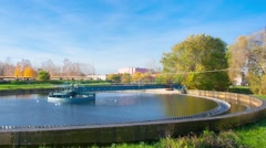 Wastewater Treatment Plant timelapse Stock Footage