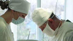 Surgery to remove a hernia Stock Footage