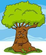 Stock Illustration of tree fantasy character cartoon