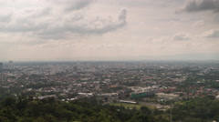 Clouds above Hat Yai, Thailand. Time lapse video Stock Footage