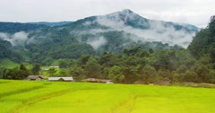 Farmlands in countryside of Chiang Mai in northern Thailand Stock Footage
