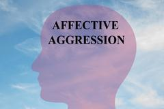 Affective Aggression concept Stock Illustration