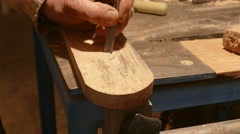 Carpenter Wood Carving - stock footage