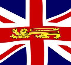 British Lion On The Union Jack Flag Stock Illustration