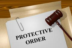 Protective Order concept Stock Illustration