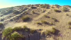 Flight over desert located in New Mexico USA Stock Footage