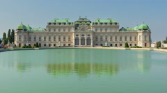 Belvedere palace, vienna, austria, timelapse, zoom out, 4k Stock Footage