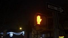 NYC  Walk Signal Switching Stock Footage