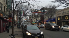 Arthur Avenue Bronx NY During Christmas Stock Footage