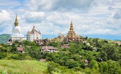 Beautiful view of Wat Pha Sorn Kaew in Petchabun, Thailand Stock Photos