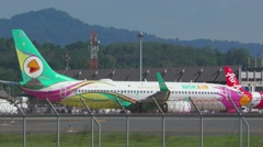 Boeing 737 taxiing Stock Footage