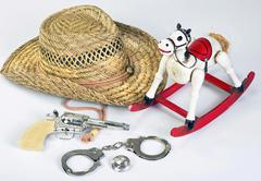 Cowboys Toys. - stock photo