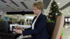 On the table is a cappuccino. - stock footage