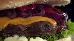 Rotating Cheeseburger (not loopable) Stock Footage