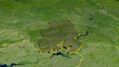 Udmurt - Russia,  extruded. Satellite Stock Footage