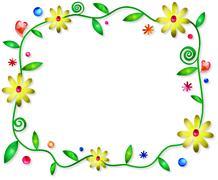 Floral Border - stock illustration