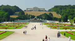 Schonbrunn palace, vienna, austria, timelapse, 4k Stock Footage