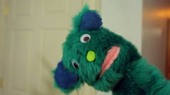 idle puppet muppet face comedic funny - stock footage