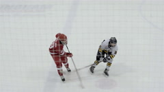 Great scoring play in a minor bantem hockey game. 4K UHD. Stock Footage