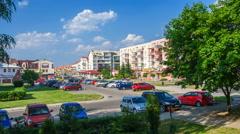 OLSZTYN - AUGUST 8 ,2015 (Timelapse view). Jaroty housing. Stock Footage