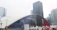 La Defense Paris Christmas Market Stock Footage