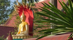 Buddha statue with  snakes and plant,Vientiane,Laos Stock Footage