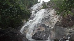 Beautiful waterfall slow motion video Stock Footage