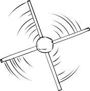 Outline of Propeller Spinning - stock illustration