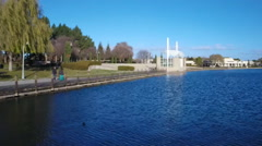 Leo J. Ryan park in Foster City, CA Stock Footage