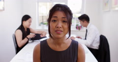 A furious businesswoman having a video conference. Shot on RED Epic. - stock footage