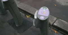 Velib Bike renting Stock Footage