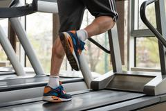 Exercising On A Treadmill - stock photo