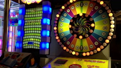 Close up game machine inside cinema Stock Footage