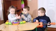 Children playing musical instruments - stock footage