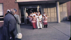 ALTAR BOYS Catholic Church Procession 1960s Vintage Film Home Movie 1914 - stock footage