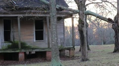 Establishment Shot of Abandoned Decaying Home Stock Footage