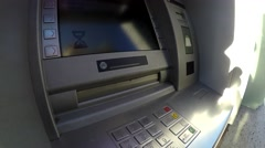 An automated teller machine or automatic teller machine ATM 4k Arkistovideo