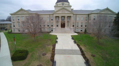 4K jib type shot of academic building at university - stock footage