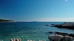 Adriatic coastline panorama - stock footage