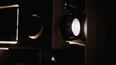 Super 8 projector film light - stock footage