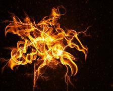 Flame flower - stock illustration