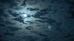 Night timelapse of moon and clouds Stock Footage
