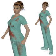 Nurse in scrubs Stock Illustration